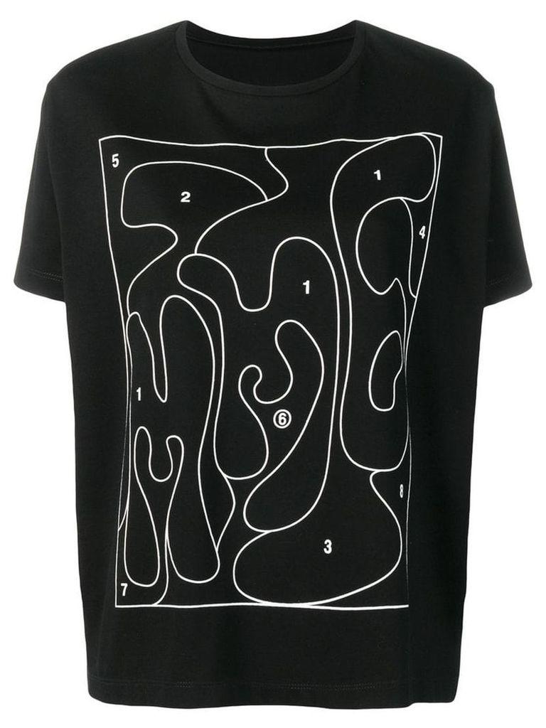 Mm6 Maison Margiela black puzzle T-shirt