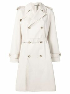 Maison Margiela simple belted raincoat - Neutrals