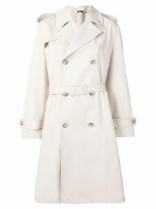 Maison Margiela simple belted raincoat - Neutrals