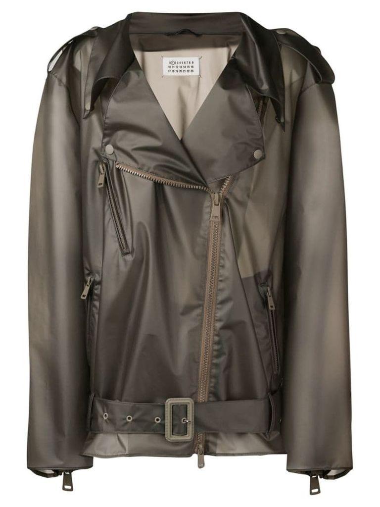 Maison Margiela see through rain coat - Grey