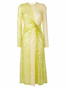 Galvan Pinwheel sequin midi dress - Green