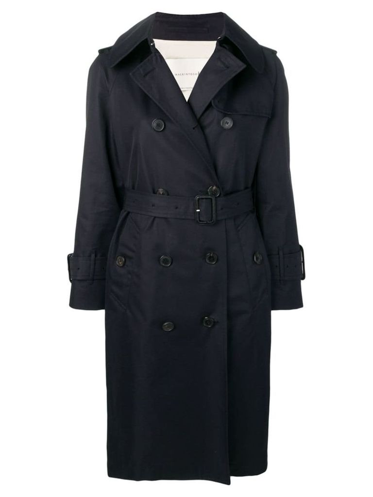 Mackintosh Ink Cotton Trench Coat LM-062BS - Blue