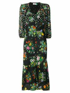 Rixo floral flared dress - Black
