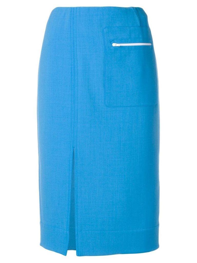 Kwaidan Editions front slit skirt - Blue