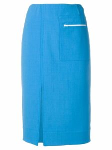 Kwaidan Editions front slit skirt - Blue