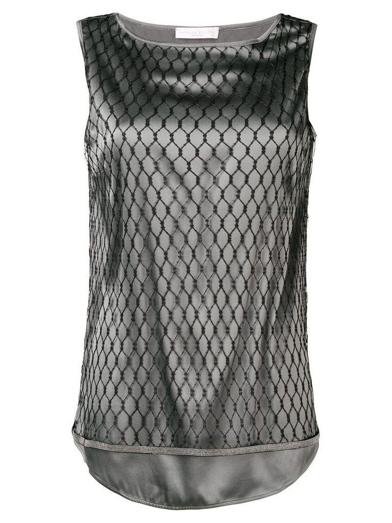 Fabiana Filippi mesh layer tank top - Black