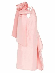 Miu Miu Rosette appliqué silk-taffeta dress - Pink