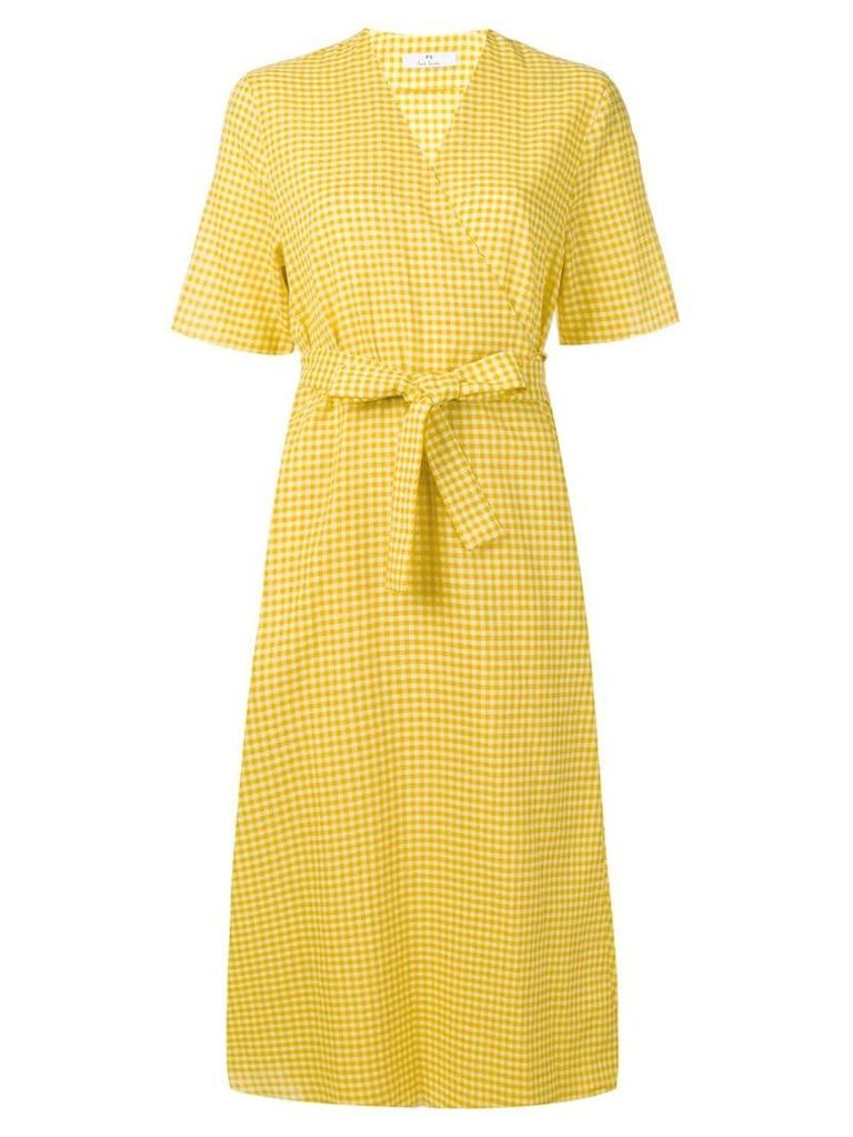 PS Paul Smith belted vichy dress - Yellow