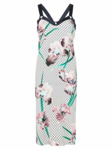 Fleur Du Mal printed midi dress - White