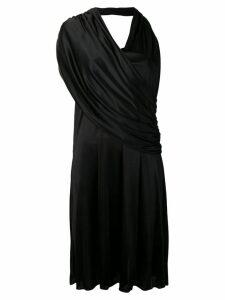 Lanvin draped asymmetric dress - Black
