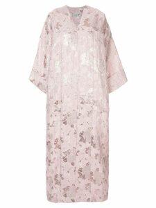 Bambah Petunia floral kaftan dress - Pink