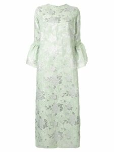Bambah Camelia floral embossed dress - Green