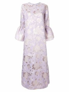 Bambah Camelia floral embossed dress - Purple