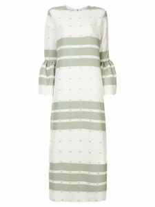 Bambah Camelia striped dress - White