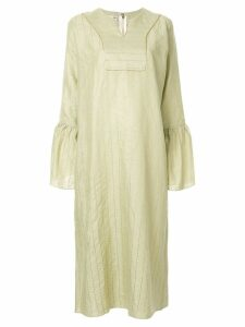 Bambah stripe embroidered kaftan dress - Green