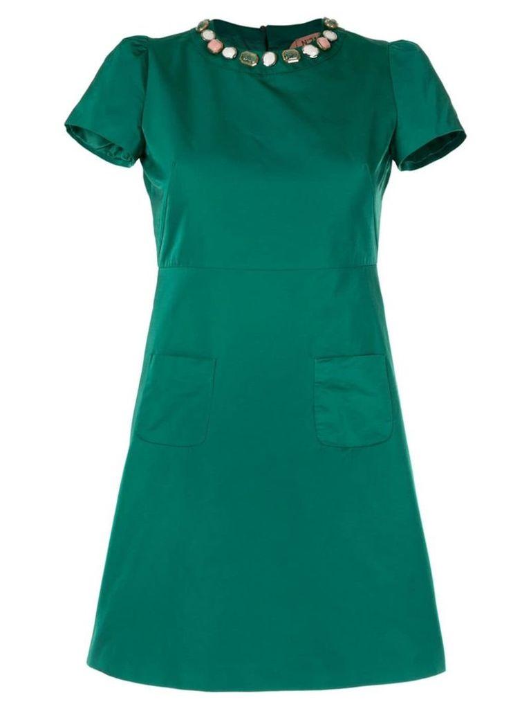 Nº21 embellished shift dress - Green