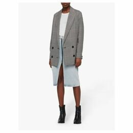 AllSaints Helei Check Blazer Jacket, Black/White