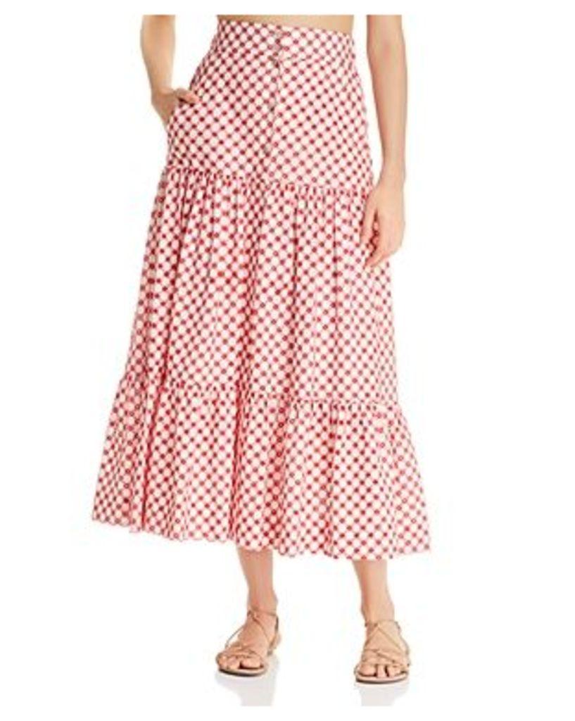 Paloma Blue Liberty Lace Maxi Skirt