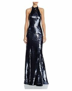 Sachin and Babi Eva Sequined Halter Gown