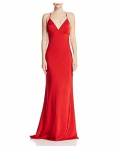 Faviana Couture Draped Satin Gown