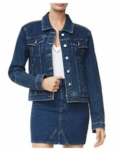 Good American Fitted Denim Jacket in Blue251
