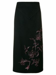 Alexander McQueen Pre-Owned 1998 straight midi skirt - Black