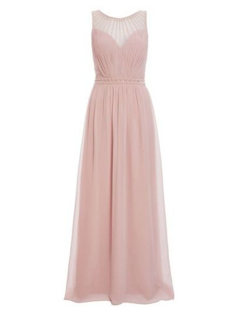 Womens *Quiz Pink Embellished Maxi Dress- Pink, Pink
