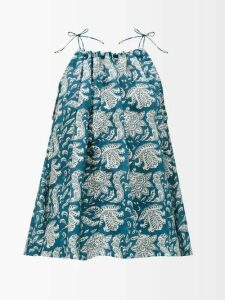 Camilla - Saint Germaine Print Silk Maxi Dress - Womens - Blue Print