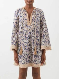 Moncler - Perforated Mesh Pleated Midi Skirt - Womens - Khaki
