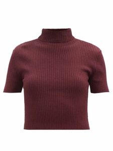 Comme Des Garçons Girl - Striped Cotton Pinafore Dress - Womens - Red White