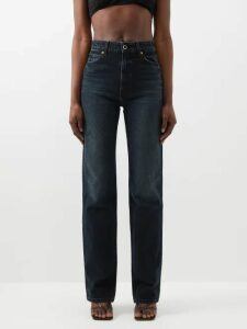 Junya Watanabe - Striped Cotton Poplin Shirt - Womens - Blue Multi