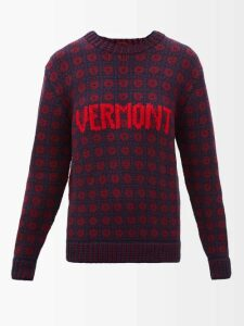 Lee Mathews - Clementine Floral Print Silk Dress - Womens - Indigo