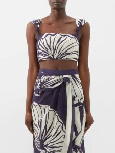 Vika Gazinskaya - Polka Dot Print Crepe Midi Dress - Womens - Pink Multi