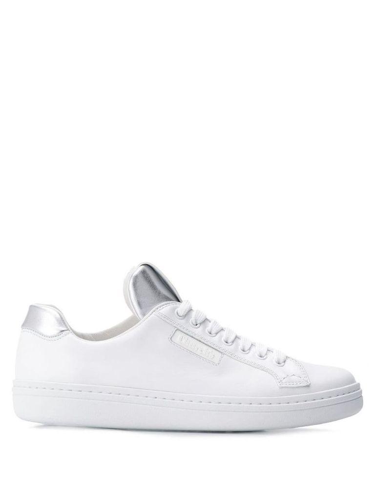 Church's metallic silver sneakers - White