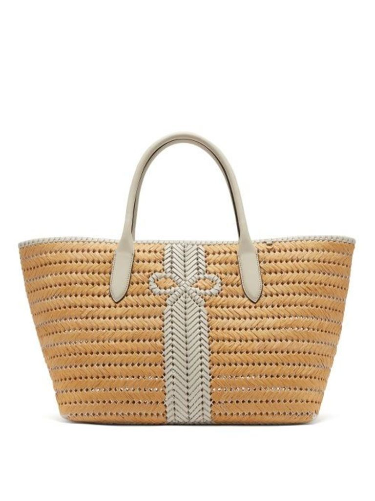 Anya Hindmarch - The Neeson Large Straw Basket Bag - Womens - White Multi