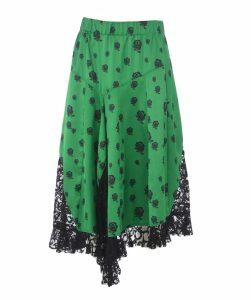 Lace Paneled Skirt