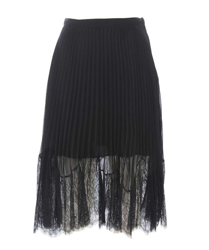Mcq Alexander Mcqueen Sheer Pleated Skirt