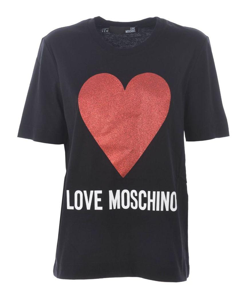 Love Moschino Heart Printed T-shirt