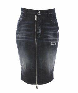 Front Zipped Skirt