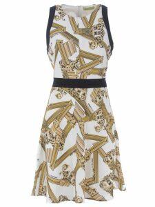 Versace Column Print Dress