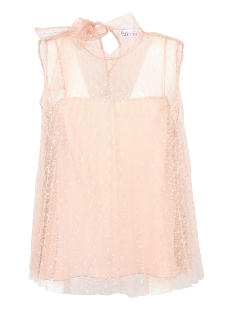 Red Valentino Pleated Point Top