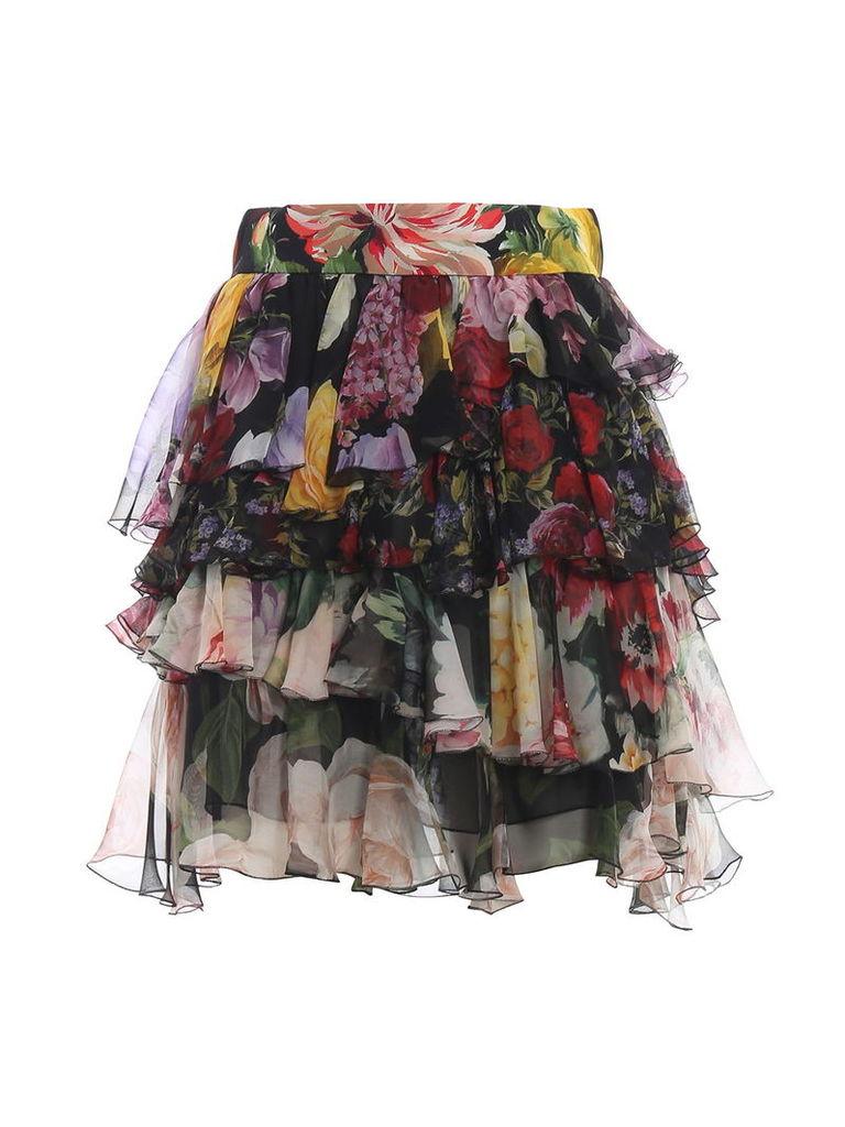 Dolce & Gabbana Floral Ruffled Skirt