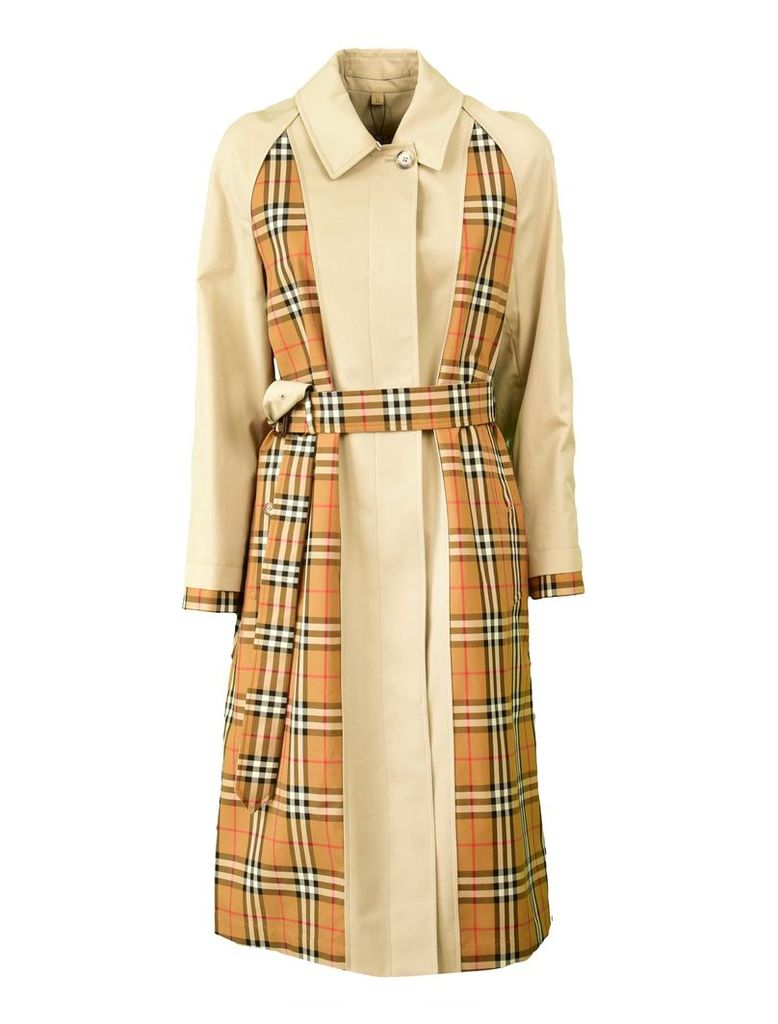 Burberry Check Print Trench Coat