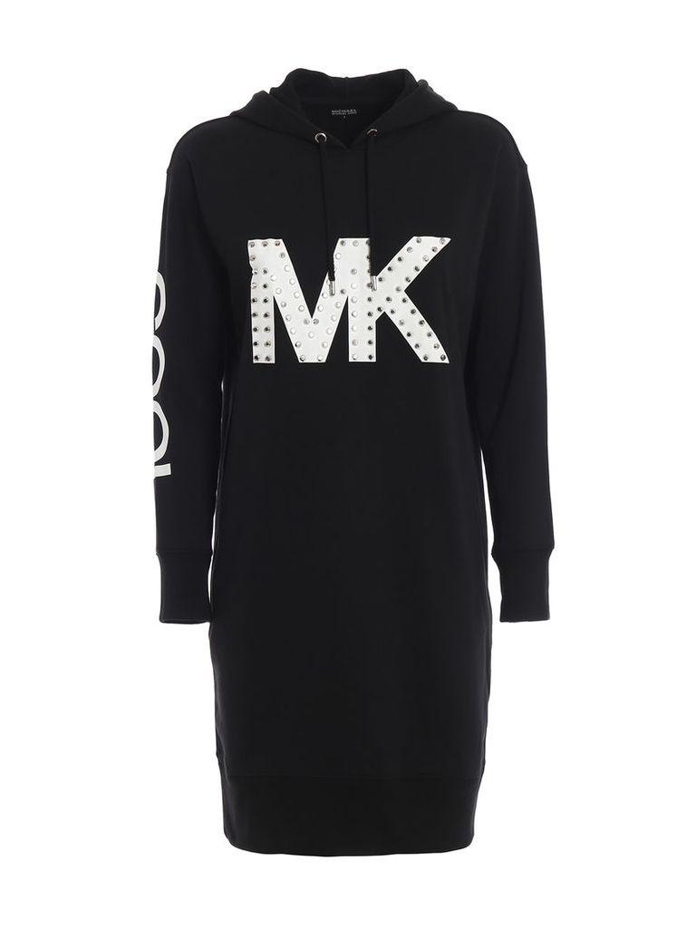 MICHAEL Michael Kors Studded Mk Logo Hoodie-style Dress