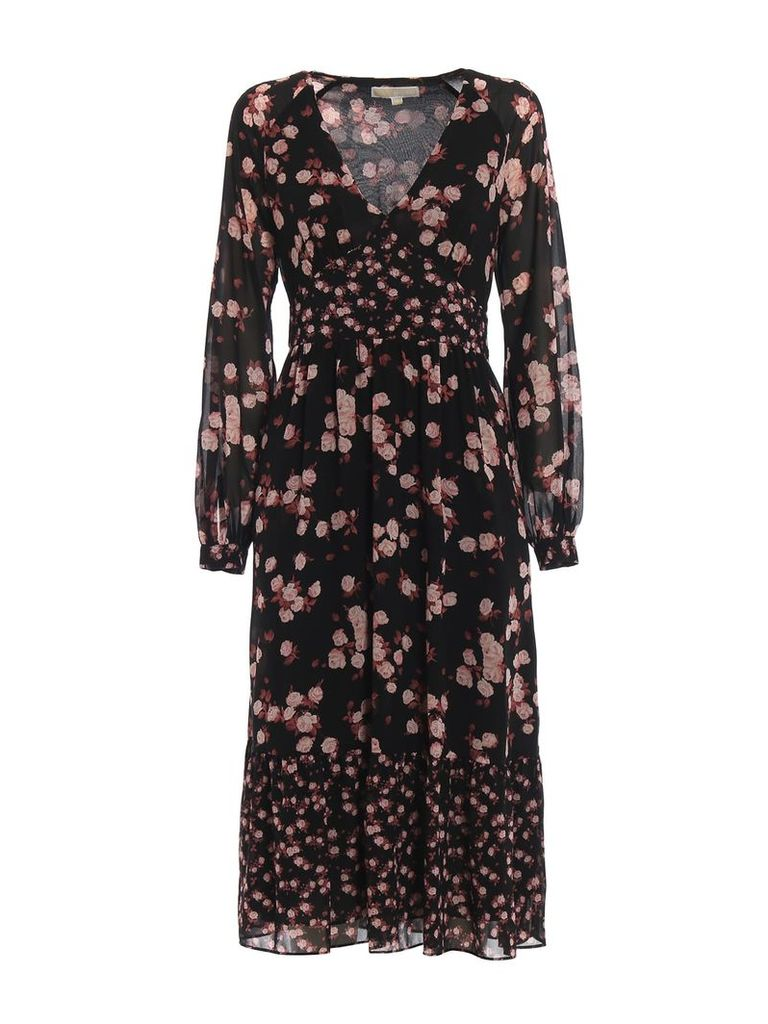 MICHAEL Michael Kors Rose Printed Georgette Dress