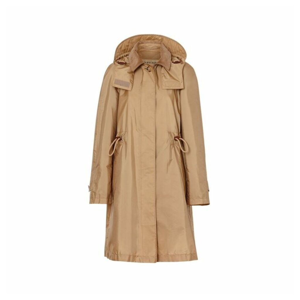 Burberry Detachable Hood Taffeta Parka