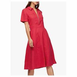 Brora Linen Zip Front Tennis Dress