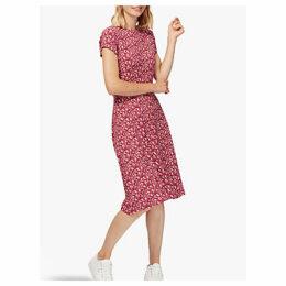 Brora Liberty of London Jersey Dress, Crimson Blossom