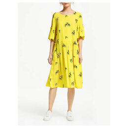 Numph Jemsa Ruffle Midi Dress, Maize