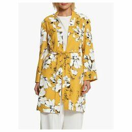 Helen McAlinden Melissa Floral Print Kimono, Yellow